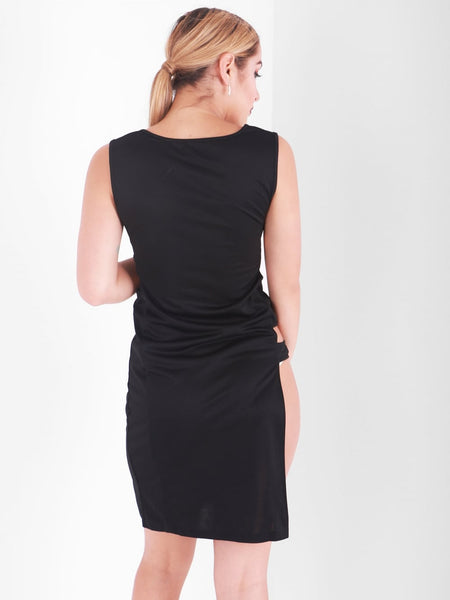 Side Split Cut Out Detail Dress - Inoxclothing