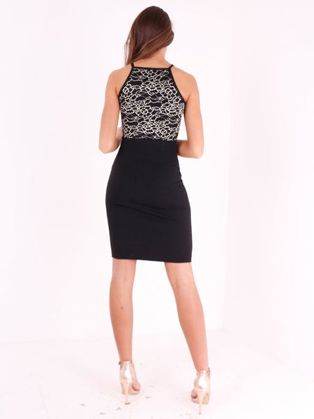 Sleeveless Bodycon Mini Dress - Inoxclothing