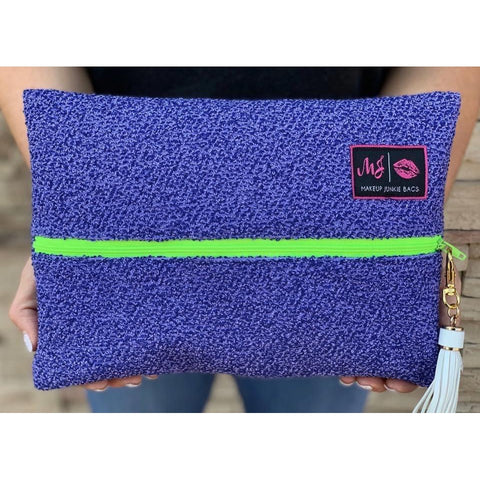 Lilac Shag Makeup Junkie Bag