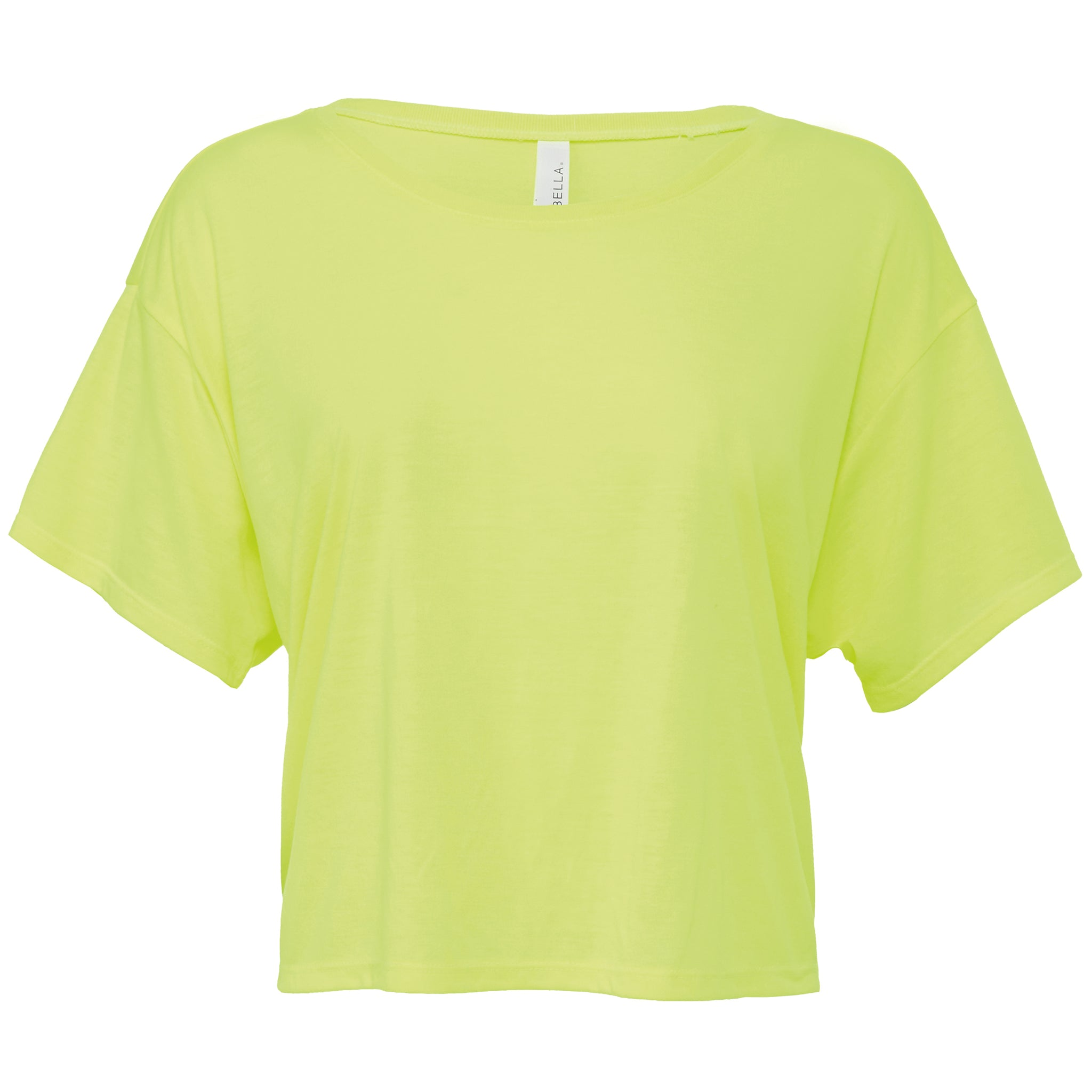 flow boxy crop t-shirt - yellow