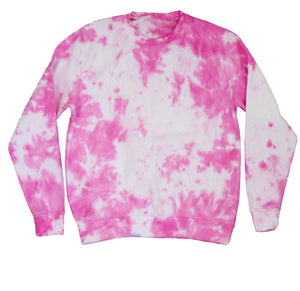 TO DYE FOR FIESTA PINK & WHITE SWEATSHIRT