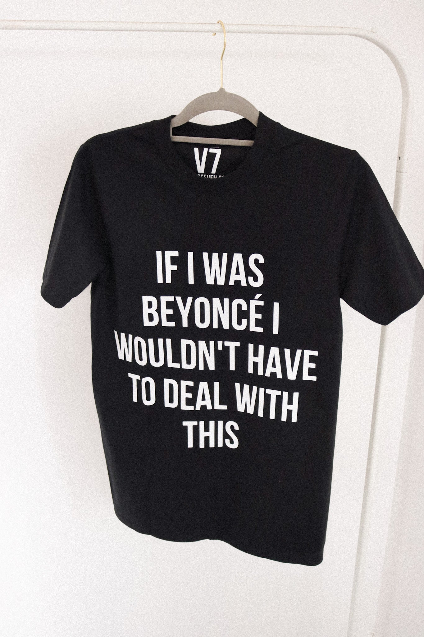 if i was beyonce t-shirt - black