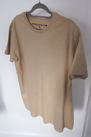 over sized t-shirt - beige - sample