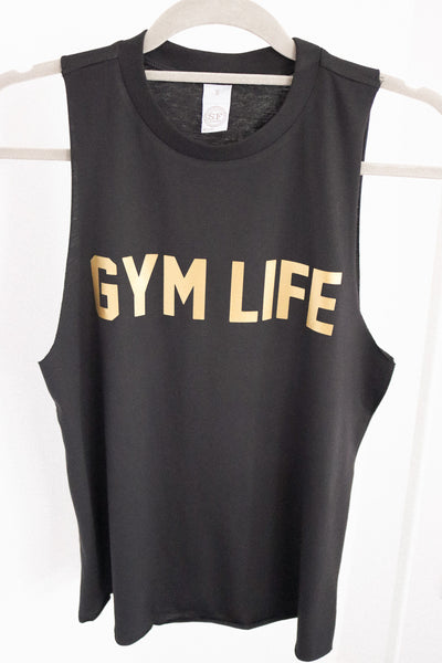gym life black tank sample