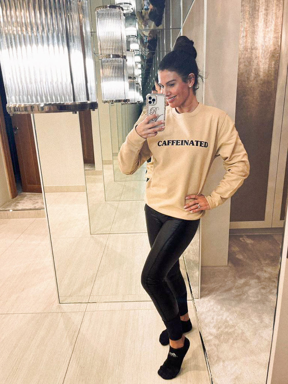 rebekah vardy caffeinated sweater - nude