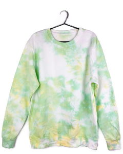 TO DYE FOR GREEN & YELLOW SWEATSHIRT