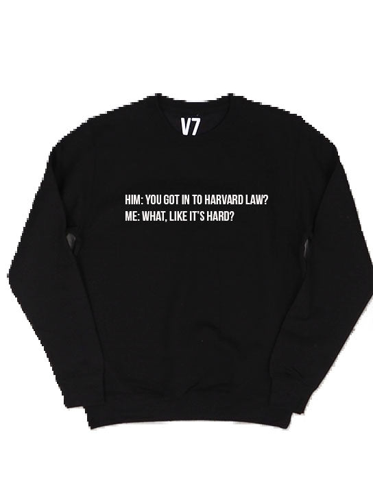 harvard law sweater