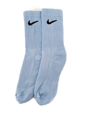 NIKE COLOURED SOCKS POWDER BLUE