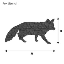 Load image into Gallery viewer, Fox Stencil