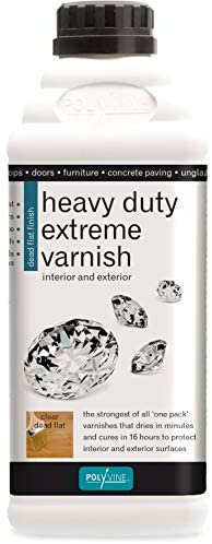 1L Dead Flat Clear Heavy Duty Extreme Varnish