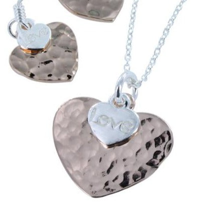 Love Heart Necklace Rose