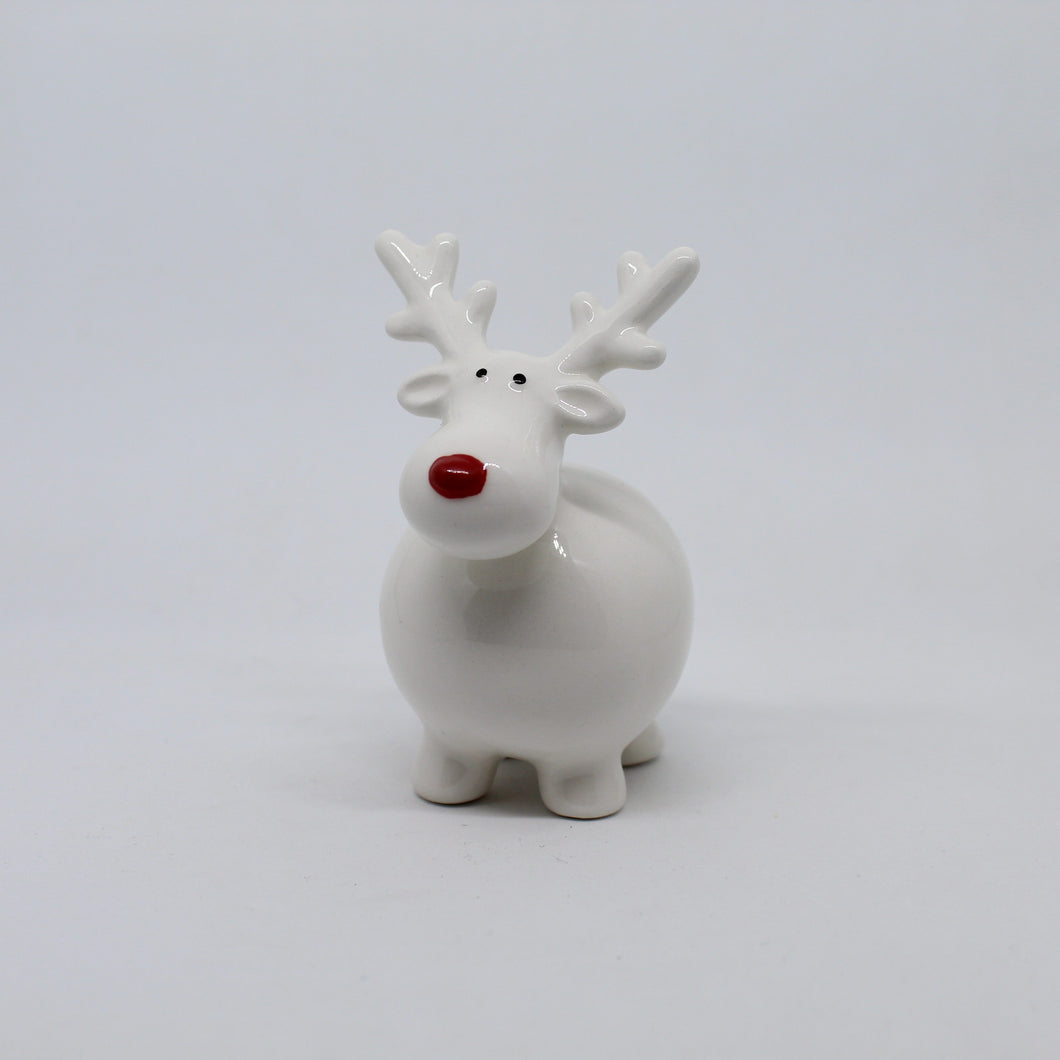 Round Reindeer with Red nose