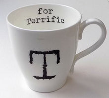 Load image into Gallery viewer, Letter Mug - Bone China