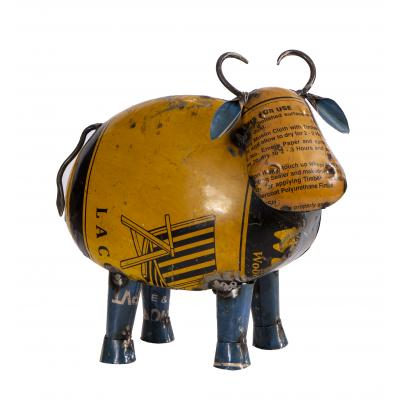 Recycled Tin Cow