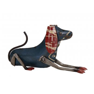 Small Recycled Tin Dog