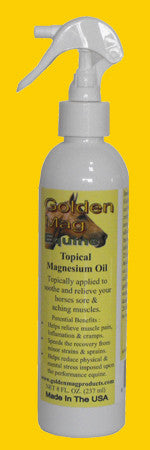 Equine Topical Magnesium Oil 8 Oz. with  Spray Top
