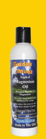 All Natural ultra Pure Topical Magnesium Oil -8 Oz. Flip Top
