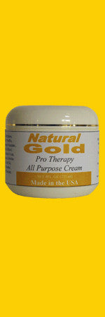 Natural Gold Pro Therapy All Purpose Cream  -  4.4 Oz Cosmetic Jar