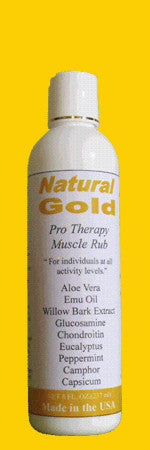 Natural Gold Pro Therapy Muscle Rub  -  8 Oz with Flip Top