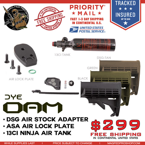 DSG DYE DAM 13ci Tank in Stock and Air lock Bundle - MAGFED PROSHOP