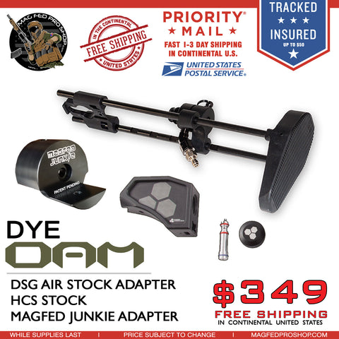 DSG DYE DAM Air Stock Adapter HCS Stock & Universal Adapter Bundle - MAGFED PROSHOP