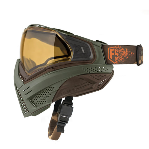 PUSH UNITE GOGGLES - Olive & BROWN (OD GREEN) Paintball Mask
