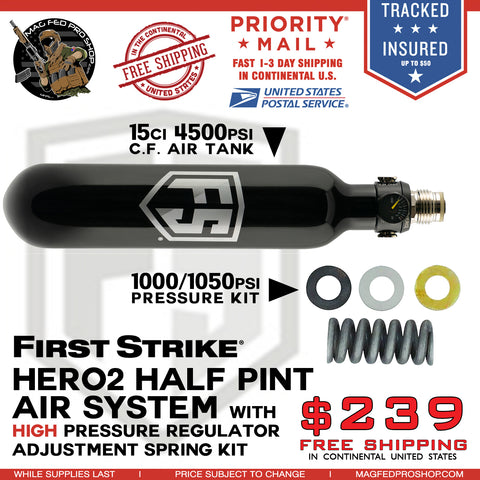 Half Pint 15ci 4500psi Air System Extra High Pressure Bundle