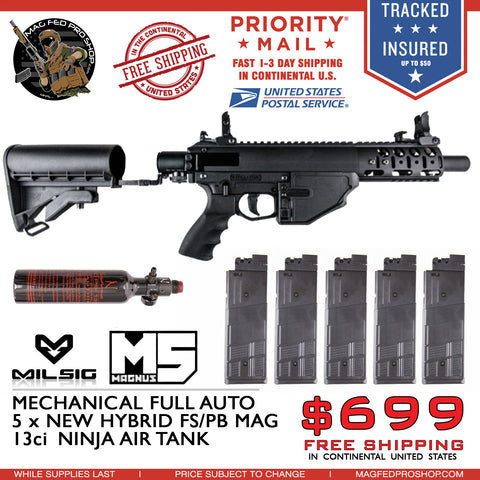 MILSIG M5 Hybrid Mags & Air Tank Bundle
