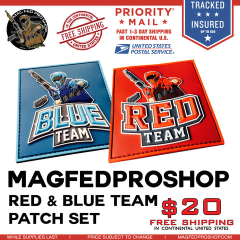 RED & BLUE TEAM PATCHE BUNDLE - MAGFED PROSHOP - 1