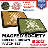 MAGFED SOCIETY BATTLE PACK PATCHE BUNDLE (OD & Tan) - MAGFED PROSHOP - 1