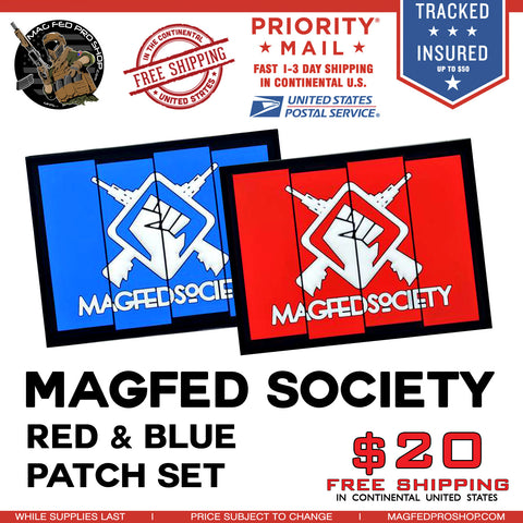 MAGFED SOCIETY PLAYERS PACK (Blue & Red Patch) - MAGFED PROSHOP