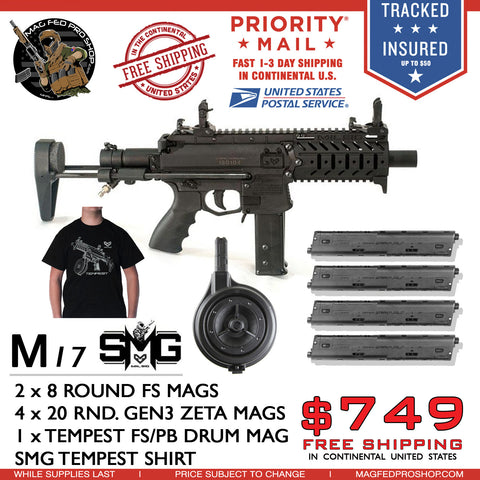 MILSIG M17 SMG DRUM, ZETA MAGS AND T-SHIRT BUNDLE - MAGFED PROSHOP - 1