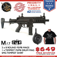 MILSIG M17 SMG DRUM MAG AND T-SHIRT BUNDLE - MAGFED PROSHOP - 1