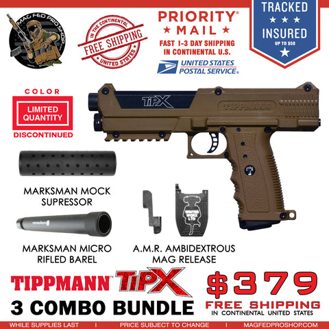 Coyote Brown TiPX BUNDLE | AMR, Micro Barrel & Suppressor - MAGFED PROSHOP