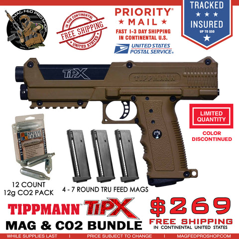 Coyote Brown TiPX BUNDLE | TPX 4 MAG & Co2 PACKAGE - MAGFED PROSHOP