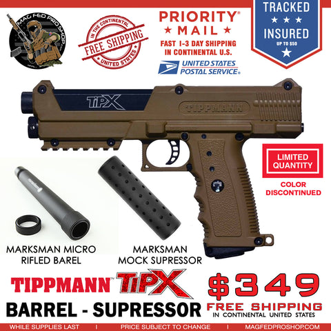 Coyote Brown TiPX BUNDLE | Micro Barrel & Suppressor - MAGFED PROSHOP