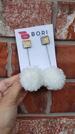 Square Pompom earrings