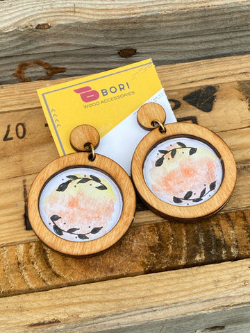 Wood Doodle earrings