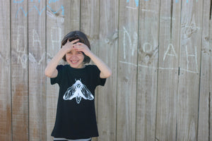 Lil Kids Black Moth Tee Unisex