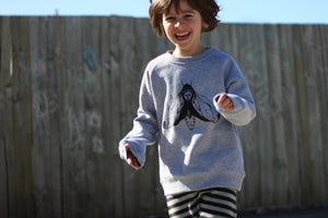 Lil Kids Grey Moth Sweater Unisex