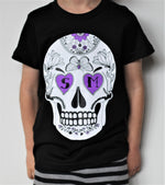 Big Kids Black Skull Tee