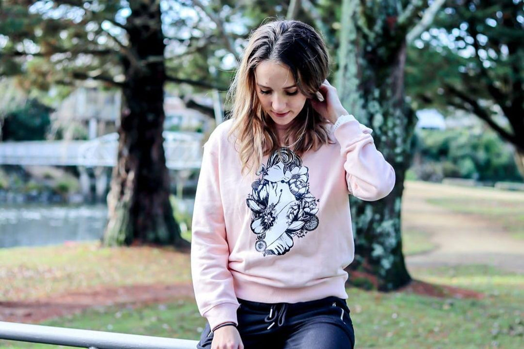 Blush Mother Earth Crew Sweater