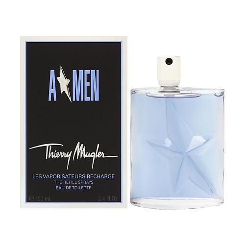 A * MEN REFILL BOTTLE  3.4 OZ EDT FOR MEN BY THIERRY MUGLER