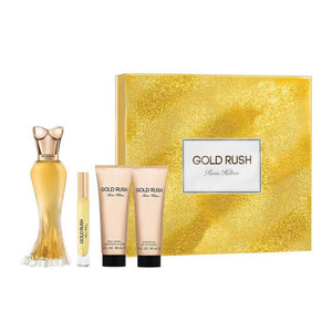 Gold Rush by Paris Hilton for Women 4 Piece Fragrance Gift