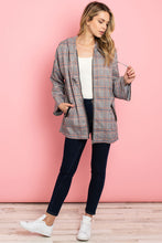 Load image into Gallery viewer, Becky Grey Checkered Jacket