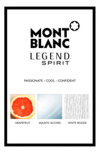 Load image into Gallery viewer, LEGEND SPIRIT EAU DE TOILETTE SPRAY FOR MEN BY MONTBLANC