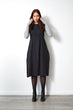 Lux Dress with cashmere sleeves