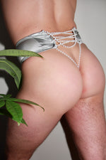Icicles Pearly High Waist Thong