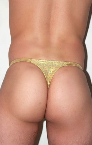 Gold Hologram Thong
