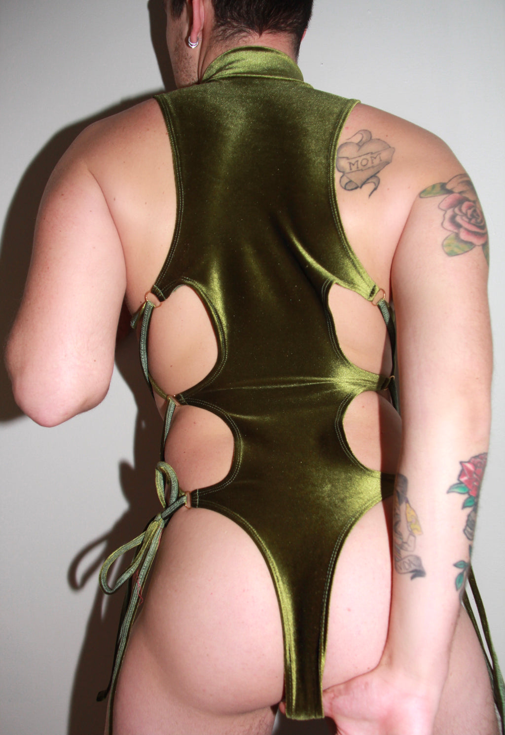 Olive You Lace Me Up Bodysuit